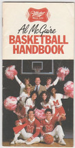 1982 Al McGuire NCAA Basketball Handbook March Madness Miller Beer - $3.50