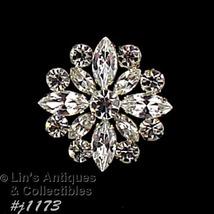 Eisenberg Ice Signed Rhinestone Pin Wedding Brooch (#J1173) - $60.00