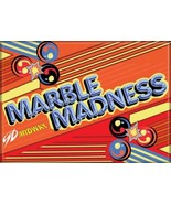 Midway Arcade Game Marble Madness Classic Name Logo Refrigerator Magnet ... - $3.99