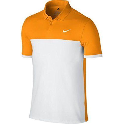 info for 36b47 bf6f7 57. 57. Previous. New Nike Golf Men s Dri-Fit Icon Color Block Polo Vivid  Orange Sizes  M L