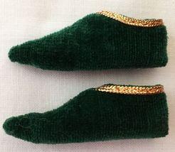 Vintage Barbie Ken The Prince #0772 Green Velvet Shoes  173-12 - $21.75
