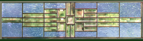 Stained Glass Window Panel Transom Sidelight Sky Blue