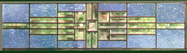 Stained Glass Window Panel Transom Sidelight Sky Blue - $147.00