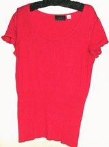 Women's Pink Scoop Neck Knit Top Size M - $6.00