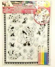 Disney Junior Minnie Mouse Color Your Own 3D Sticker Poster