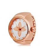 Stylish Analog Leaf Ring New Watch  - $10.00