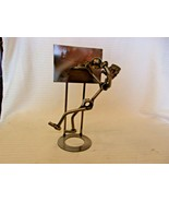 """Hand Made Metal Basketball Player Dunking Ball from Recycled Metal 8.25""""... - $59.40"""