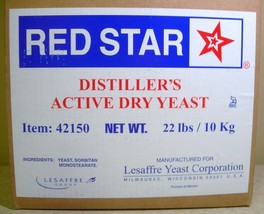 DISTILLERS YEAST 22lb BOX PACK RED STAR DADY FOR BOURBON WHISKEY VODKA MOONSHINE image 2