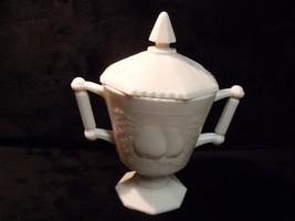 Jeannette Glass Shell Pink Milk Glass Sugar Bowl w/Lid Baltimore Pear - $19.80