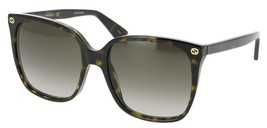 Gucci Women Square Sunglasses GG0022S 57mm Authentic - $159.00