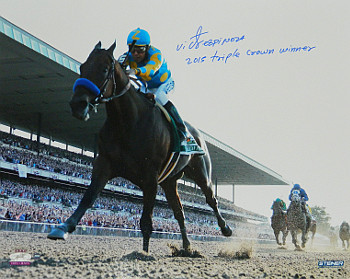 Primary image for Victor Espinoza signed 16X20 Photo 2015 Belmont Stakes Horse Racing Triple Crown