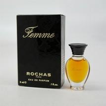 FEMME by Rochas 3 ml/ 0.1 oz Eau de Parfum Mini NIB - $12.86