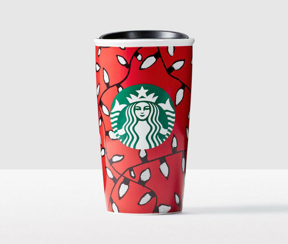 Primary image for Starbucks Christmas Lights Created by You Double Wall Traveler New W\Gift Box