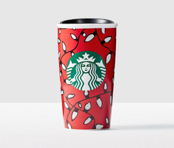 Starbucks Christmas Lights Created by You Double Wall Traveler New W\Gift Box - $39.26