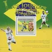 Brazilian Soccer Players Sport Souvenir Sheet Mint NH - $12.45