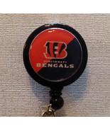 Nfl Cincinnati Bengals Badge Reel Id Holder Orange Black Alligator Clip ... - $8.99