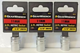 "GearWrench 80379 3/8"" Drive 6 Point Standard Socket 11mm 3PCS - $3.71"
