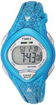 Timex Ironman TW5M08800 Women's Digital Sport Watch Blue Purple Resin Band - $37.97