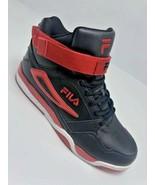 Men's Fila Red   Black High Top Fashion Sneakers  - $59.40+