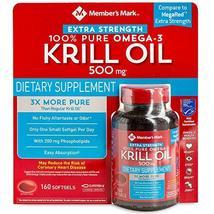 Member's Mark Extra Strength 100% Pure Omega-3 Krill Oil (Pack of 2) - $66.49