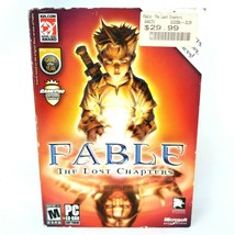 Fable The Lost Chapters PC CD-Rom 2005 Lionhead Studios Rated M Microsoft - $11.42