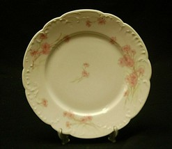 "Antique Haviland Limoges France 8-1/2"" Luncheon Plate Pink Cornflower Scalloped - $19.79"