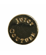 "Juicy Couture Gold tone Metal Replacement Main Front Blouse Button .40""  - $3.40"