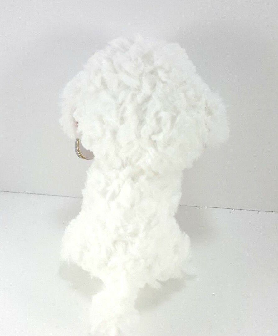 "Ty Valentine Honey Bun Poodle Puppy Dog Beanie Plush Stuffed Red Heart New 6"" image 4"