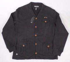 Ten 10.Deep Black Veterans Card Fleece Cardigan Sweater Jacket 2XL 3XL NW image 1