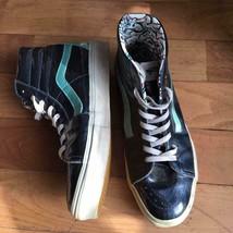 Vans X Marc Jacobs Authentic SK8 Hi Sneakers Blue Metallic US 10 Japanese 28cm - $221.59