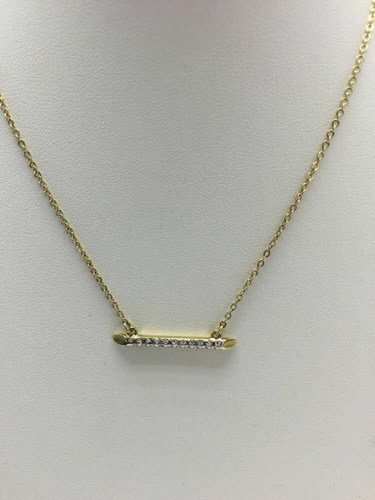 Primary image for Vince Camuto Goldtone Linear Pavé Pendant Necklace VC-54
