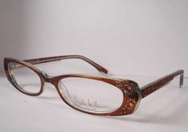 Nicole Miller Bon Voyage Brown Women Eyeglass Eyewear Designer New - $77.80
