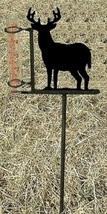 Deer Rain Guage - Rustic Metal Wildlife Cabin Lodge Garden Yard Decor - $38.00