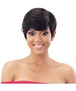 Mayde Beauty Human Hair Swooped Bang Natural Short Hair Wigs - Carmen - $21.95