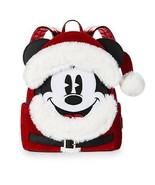 Disney Parks Navidad Papa Noel Mickey Mouse Mini Mochila Nuevo con Etiqueta - $116.11