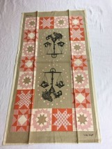 VTG GEORGE WRIGHT Kitchen Scale Quilter's Star Linen AMERICANA Tea Towel... - $7.99