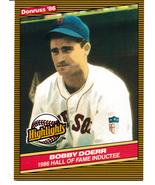 1986 Donruss Highlights Bobby Doerr - $5.25