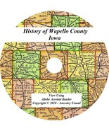 1901 History & Genealogy of WAPELLO COUNTY IOWA Ottumwa Eddyville IA Fam... - $5.86