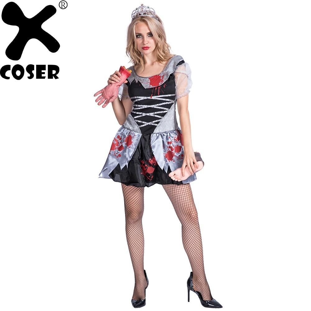 2019 Halloween Party Horror Theme Cosplay Costume Bloody Bride Masquerade Plays