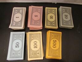 VTG PARKER BROS MONOPOLY 1960-1970'S COMPLETE SET MONEY - CASH - DOLLARS - $4.85
