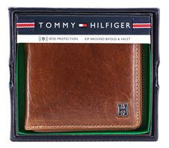 Tommy Hilfiger Men's Leather Zip Around Wallet Passcase Billfold Rfid 31TL130047 image 11