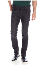 KENNETH COLE Skinny Flex Denim Details, Black, Size 38x34 - $39.59