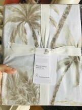 Pottery Barn Palm Toile Duvet Cover Neutral King No Shams Beautiful  - $129.00