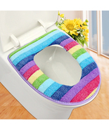 Colorful bathroom toilet wc seat cover bath mat holder lid cushion ZH010... - $6.80