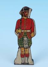 Marx Tin Litho Gordon Highlanders #10 Vintage Metal Toy Soldier Flat Lit... - $14.46