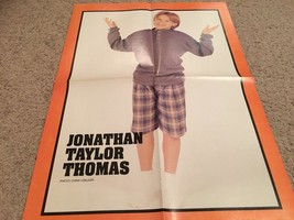 Jonathan Taylor Thomas teen magazine poster clipping sock double sided rare