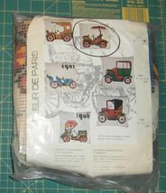 """Antique Car Fleur de Paris Cushion Needlepoint Kit New 16"""" x 16"""" - $29.02"""