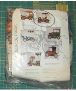 "Antique Car Fleur de Paris Cushion Needlepoint Kit New 16"" x 16"" - $29.02"