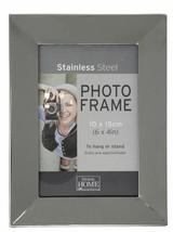 Acero Inoxidable Cromado 15.2cm X 10.2cm Metal Marco de Fotos 19,5cm X 14.5cm - $21.20
