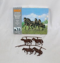 Vintage Imex Union Horses & Harness Civil War Set Plastic Model Military... - $16.82